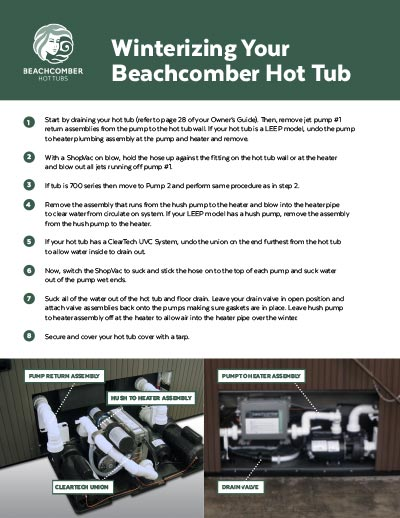 Beachcomber Hot Tub Owner's Guide