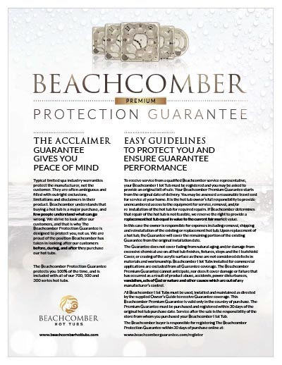 Beachcomber Hot Tub Protection Guarantee