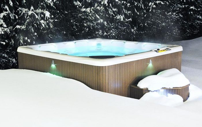 Luxury Hot Tub In The Snow